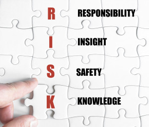 Last puzzle piece with Business Acronym RISK